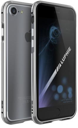 """Алюминиевый бампер Luphie Blade Sword для Apple iPhone 7 (4.7"""") (Серый / Серебряный)"""