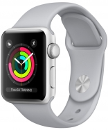 Apple Watch Series 3 GPS 38mm Silver Aluminum w. Fog Sport B. - Silver (MQKU2)