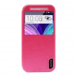Чехол USAMS Merry Series for HTC One M8 Smart Leather Stand Pink