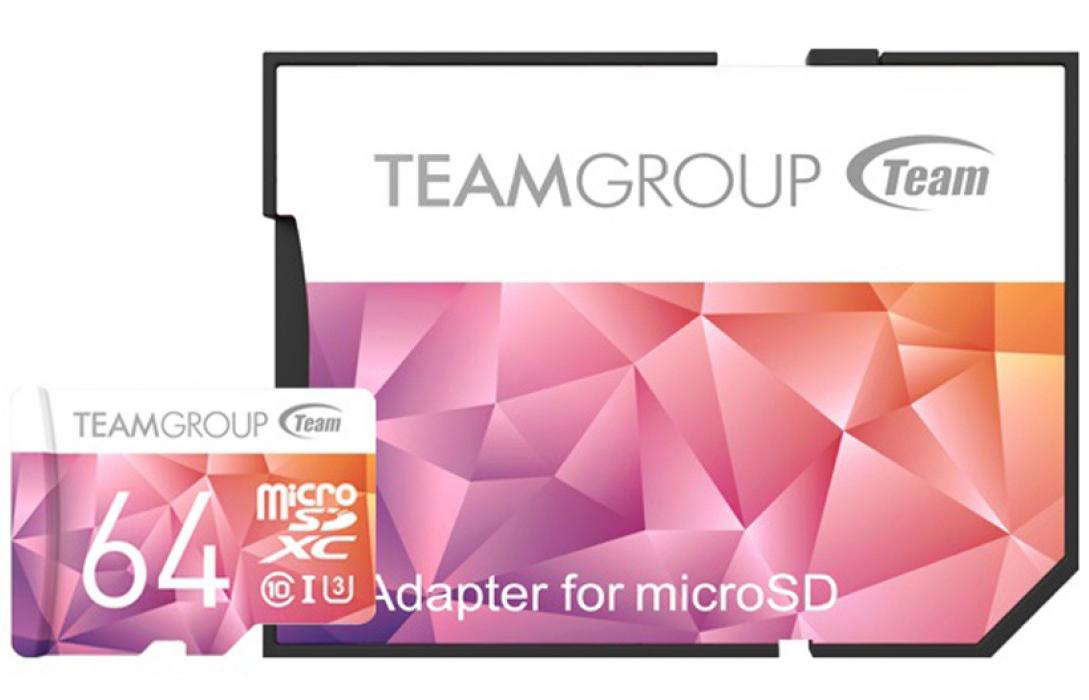Карта памяти Team microSDXC 64GB UHS-I/U3 Color II + SD adapter Purple/Orange (TCIIUSXH64GU351)