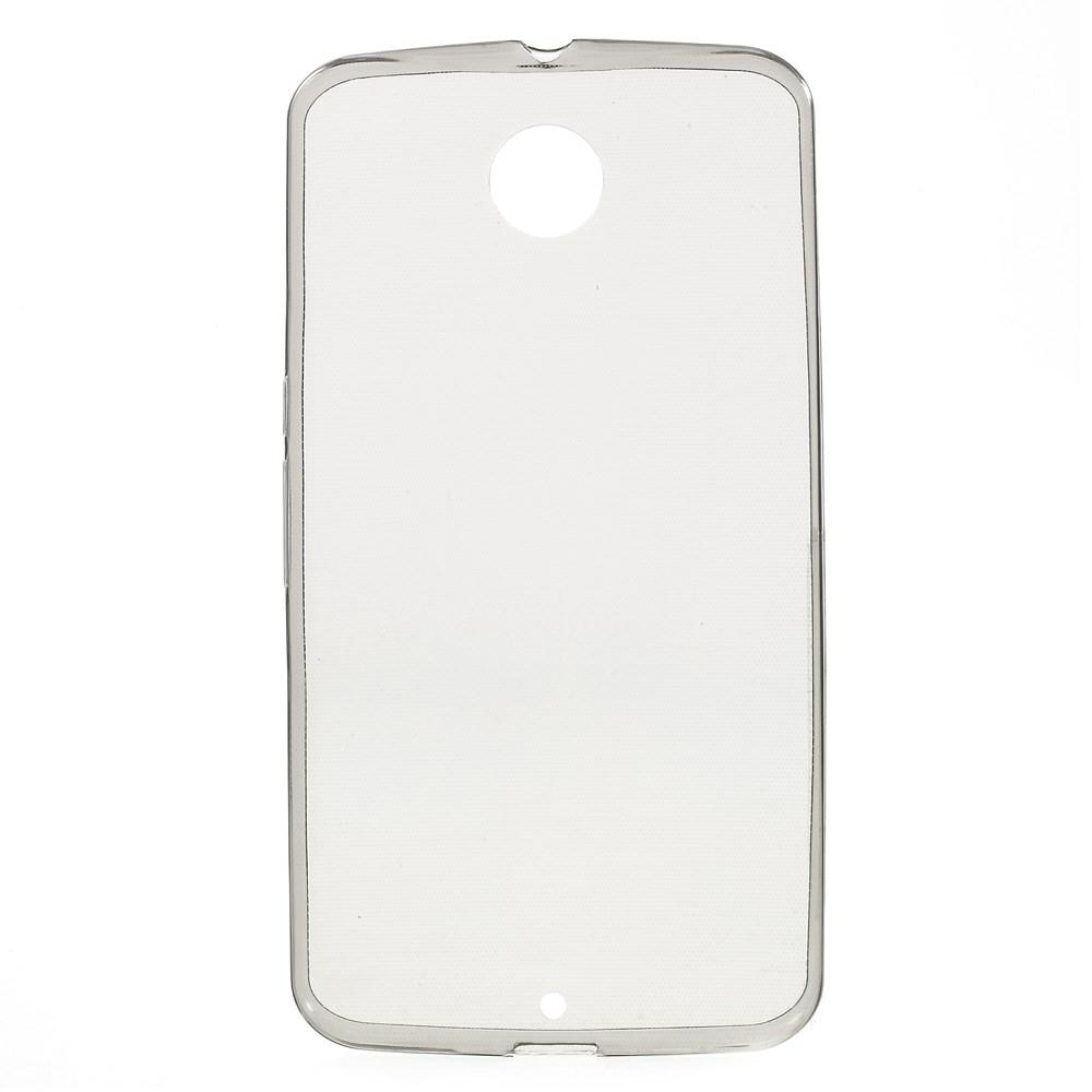 TPU чехол EGGO 0.6mm для  Motorola Nexus 6 (Серый / Grey)
