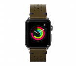 Кожаный ремешок для Apple Watch 42/44 mm LAUT HERITAGE Olive (LAUT_AWL_HE_GN)