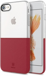 Чехол Baseus Half to Half Case For iPhone7 Wine red (WIAPIPH7-RY09)