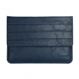 Чехол OATSBASF Genuine Leather для Macbook Air/Pro 13.3 (Blue/Синий)