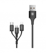 Кабель Lightning/USB Type-C Baseus Excellent Three-in-one Cable USB For Lightning/Type-C 2A 1.2M Black (CA3IN1-01)