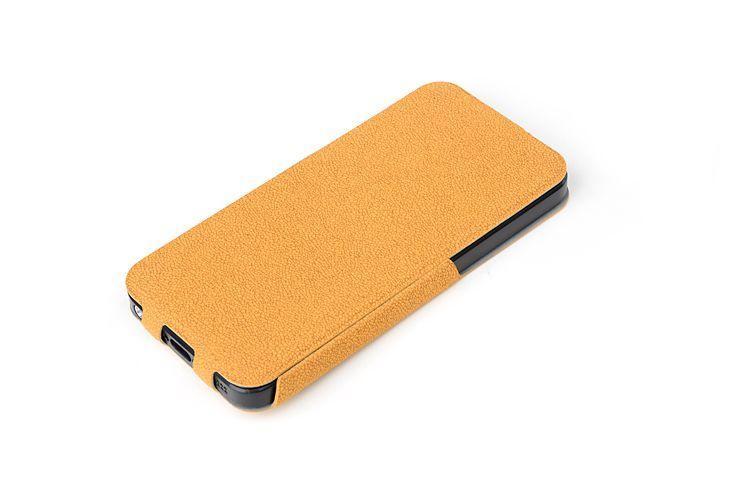 Кожаный чехол ROCK Eternal series для Apple iPhone 5/5S (желтый)