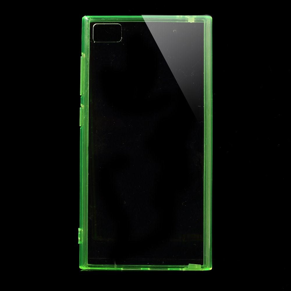 Пластиковая накладка EGGO для Xiaomi MI-3 (Прозрачная/Зеленая)