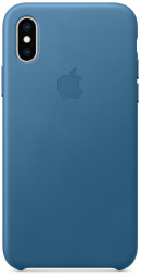 Apple iPhone XS Leather Case - Cape Cod Blue (MTET2)