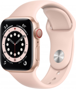 Apple Watch Series 6 GPS 40mm Gold Aluminum Case w. Pink Sand Sport B. (MG123)