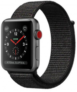 Apple Watch Series 3 GPS + Cellular 42mm Space Gray Case w. Black Sport L. (MRQF2)