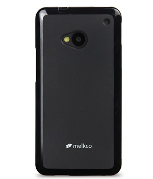 TPU чехол Melkco Poly Jacket для HTC One / M7 (+ мат.пленка) Черный (soft-touch) - ITMag