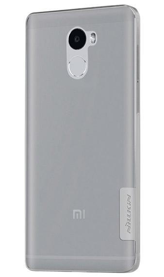 TPU чехол Nillkin Nature Series для Xiaomi Redmi 4 (Серый (прозрачный)) -