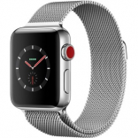 Apple Watch Series 3 GPS + Cellular 38mm Stainless Steel w. Milanese L. (MR1F2)