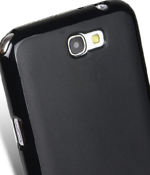 TPU чехол Melkco Poly Jacket для Samsung N7100 Galaxy Note 2 (+ мат.пленка) (Черный (soft-touch)) - ITMag