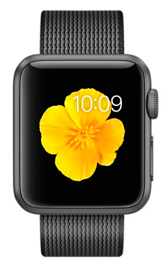 Apple Watch Sport 38mm Space Gray Aluminum Case with Black Woven Nylon (MMF62) - ITMag
