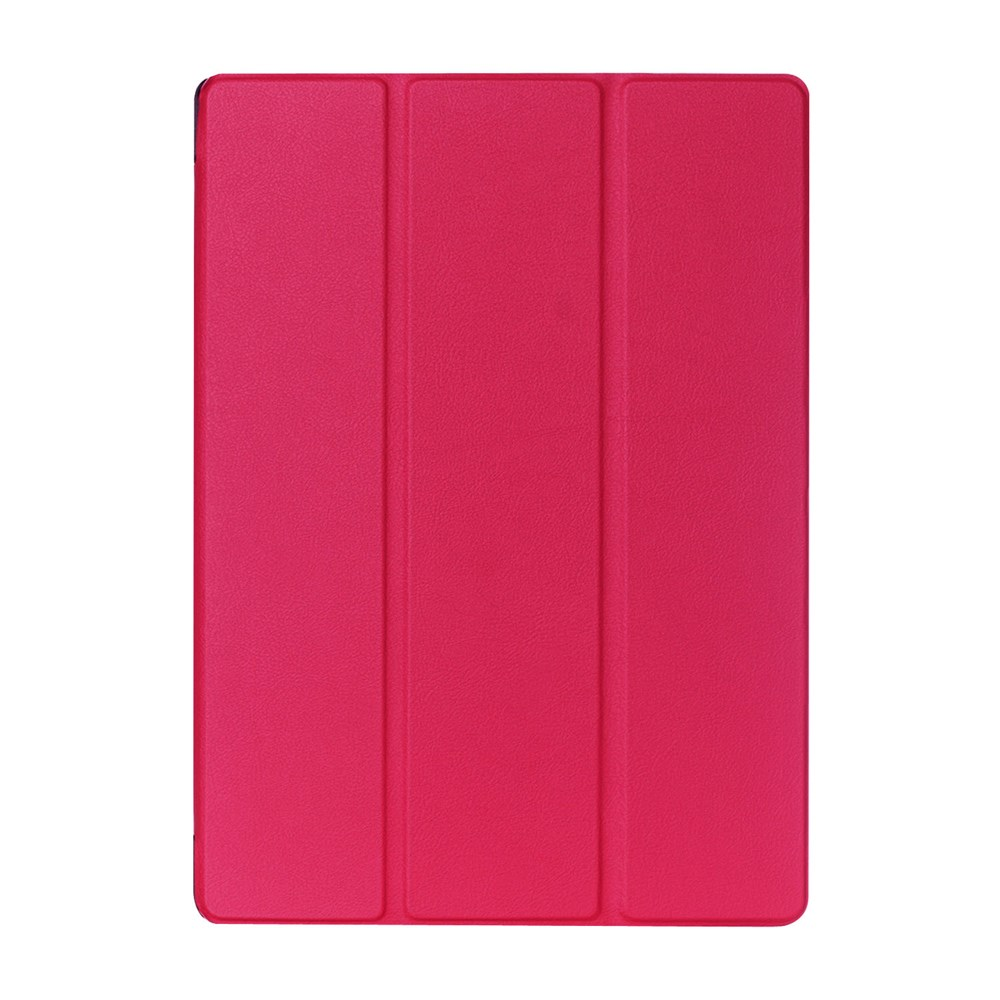 Чехол EGGO Tri-Fold Stand Lychee для iPad Pro 12.9 (Розовый/Rose)