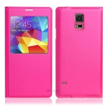 Чехол S View Cover Samsung Galaxy S5 G900H (glamour pink)