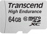 карта памяти Transcend 64 GB microSDXC Class 10 Premium High Endurance + SD Adapter (TS64GUSDXC10V)