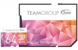 Карта памяти Team microSDXC 64GB UHS-I/U3 Color II + SD adapter Purple/Orange (TCIIUSXH64GU351)