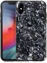 Чехол LAUT POP для iPhone XS - Black Nacre (LAUT_iP8_POP_PLBK (T))