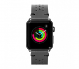 Кожаный ремешок для Apple Watch 42/44 mm LAUT HERITAGE Slate Grey (LAUT_AWL_HE_GY)