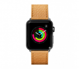 Кожаный ремешок для Apple Watch 42/44 mm LAUT MILANO Ochre (LAUT_AWL_ML_BR)