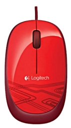 Logitech M105 Corded Optical Mouse (Red)