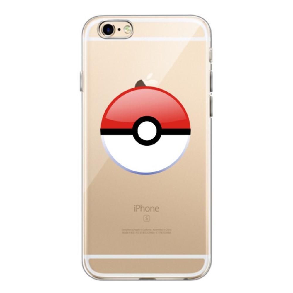 TPU чехол EGGO Pokemon Go Poke Ball для iPhone 6 Plus/6S Plus (Red)