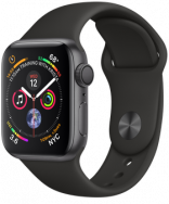 Apple Watch Series 4 GPS 44mm Space Gray Aluminum w. Black Sport B. - Space Gray (MU6D2)