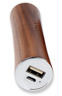 Внешняя батарея EGGO 2600mAh Natural Wooden (iPhone, iPad, Android) Dark Brown - ITMag