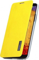 Чехол (книжка) ROCK Elegant Series для Samsung N9000/N9002 Galaxy Note 3 (Желтый / Yellow)