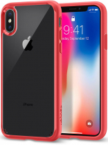 Spigen Case Ultra Hybrid for iPhone X Red (057CS22130)