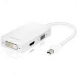 Адаптер Macally Mini DisplayPort to 3-in1 DVI/HDMI/VGA (MD-3N1)