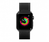 Кожаный ремешок для Apple Watch 42/44 mm LAUT SAFARI Black (LAUT_AWL_SA_BK)