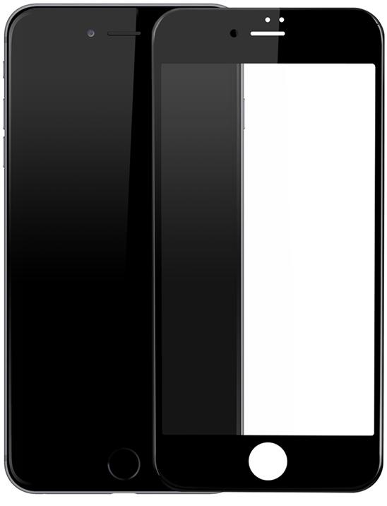 Защитное стекло Baseus Silk-screen 3D Arc Protective Film для iPhone 7/8 Black (SGAPIPH7-A3D01)
