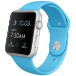 Apple Watch 42mm Silver Aluminum Case with Blue Sport Band (MJ3Q2) (Витринные)
