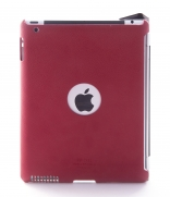 Ультратонкая накладка SGP iPad 2 Leather Case Griff Series Dante Red