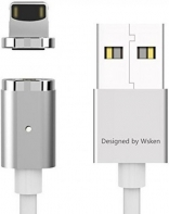Wsken USB Cable to Lightning X-cable Mini 2 Metal Magnetic 1m Silver (6956071023025)