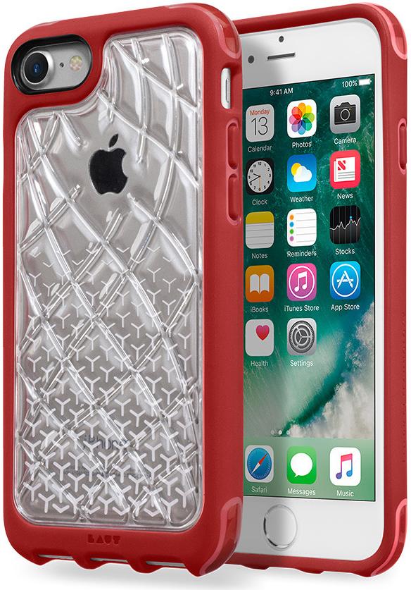 Защищенный чехол-накладка LAUT R1 для iPhone 7 (Transparent/Pink) (LAUT_IP7_R1_CR)