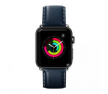 Кожаный ремешок для Apple Watch 38/40 mm LAUT OXFORD Blue (LAUT_AWL_OX_BL)