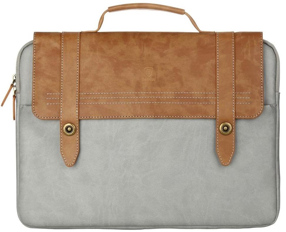 """Сумка для ноутбука Baseus British Series Laptop Bag 14"""" Brown/Gray (LTBASEST-BP08)"""