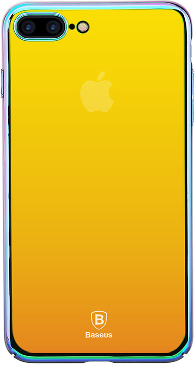 Чехол Baseus Glass Case For iPhone 7 Plus Stream gold (WIAPIPH7-GZ0V)