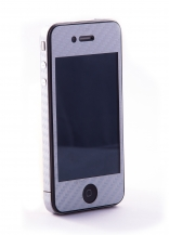 Наклейка защитная EGGO iPhone 4/4S Carbon Fiber Silver FullBody
