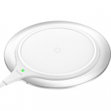 Baseus Metal Wireless Charger Silver + white (WXJS-S2)