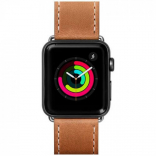 Кожаный ремешок для Apple Watch 42/44 mm LAUT SAFARI Tan (LAUT_AWL_SA_BR)