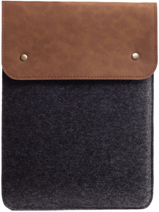 Вертикальный чехол для Macbook Air 13.3 и MacBook Pro 13.3 коричневый с черным (GM64)
