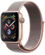 Apple Watch Series 4 GPS 44mm Gold Aluminum w. Pink Sand Sport Loop - Gold (MU6G2)