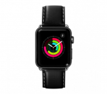 Кожаный ремешок для Apple Watch 42/44 mm LAUT OXFORD Noir (LAUT_AWL_OX_BK)