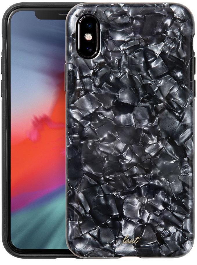 Купить Аксессуары iPhone X, Чехол LAUT POP для iPhone XS - Black Nacre (LAUT_iP8_POP_PLBK (T))