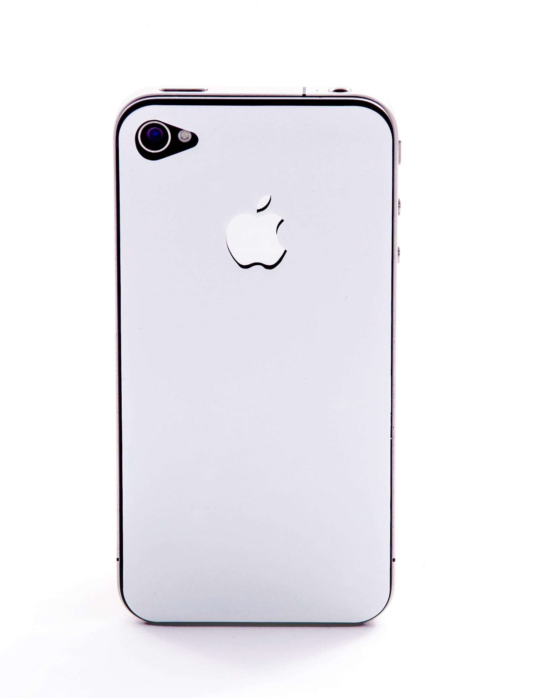 Пленка защитная EGGO iPhone 4/4S Crystalcover white BackSide (белая, перламутровая)